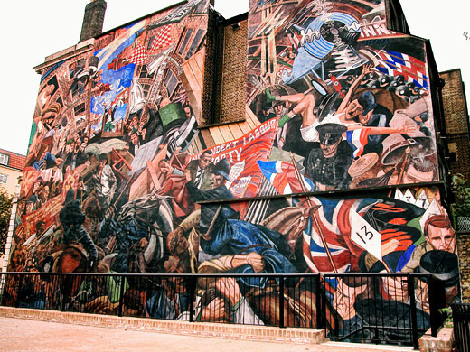 Battle of cable street mural cable street october 2002 for Battle of cable street mural